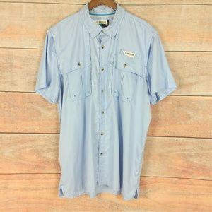 Magellan Mag Wick Fish Gear Vented Shirt Blue XL